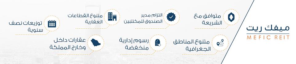 شركة الشرق الأوسط للإستثمار المالي (ميفك).  - صندوق ميفك ريت